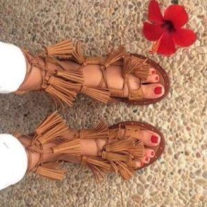 Zara Tassel Gladiator Sandals